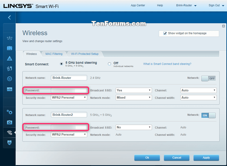 See Wireless Network Security Key Password in Windows 10-linksys.png