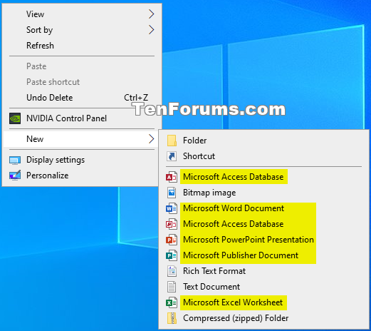 How to Add or Remove Office 2019 New Context Menu Items in Windows 10-microsoft_office_2019_new_context_menu.png