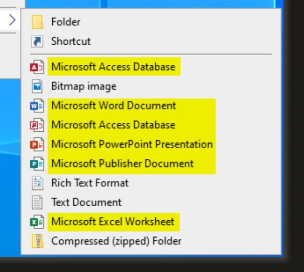 How to Add or Remove Office 2019 New Context Menu Items in Windows 10-003282.png