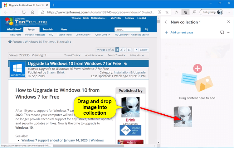 Add Image and Text Content to Collection in Microsoft Edge Chromium-microsoft_edge_add_image_to_collection-1.png
