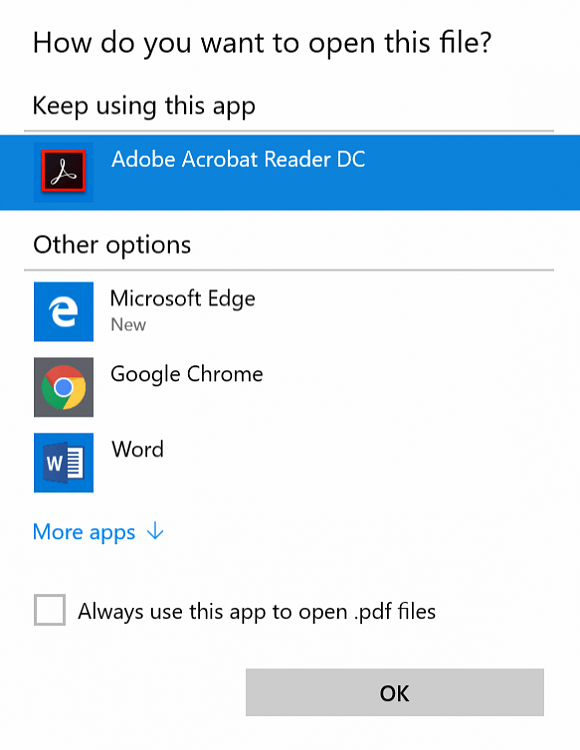 Disable 'You have new apps that can open this type of file'-keep_using_this_app.png