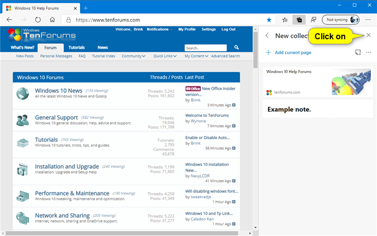 How to Add Note to Collection in Microsoft Edge Chromium-microsoft_edge_close_collections_pane.png