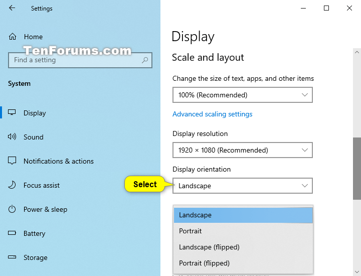 How to Change Display Orientation in Windows 10-display_orientation_in_settings-3.png