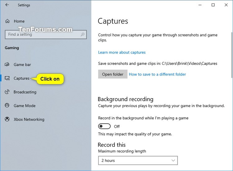 Record and Take Screenshots with Game Bar in Windows 10-game_dvr_settings-1.jpg