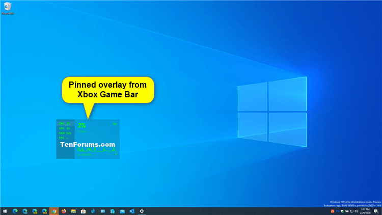 How to Pin and Unpin Xbox Game Bar Overlays on Screen in Windows 10-xbox_game_bar_pinned_overlay.png