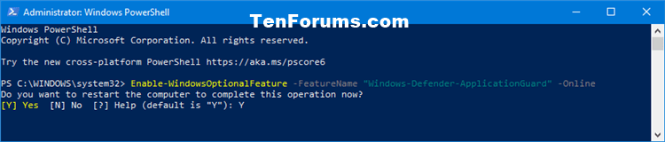 Turn On or Off Microsoft Defender Application Guard in Windows 10-turn_on_windows_defender_application_guard_powershell-1.png