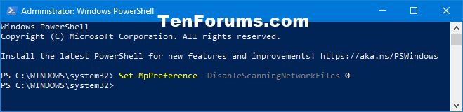 How to Enable Scan Network Files with Windows Defender in Windows 10-windows_defender_scan_network_files_powershell-0.png