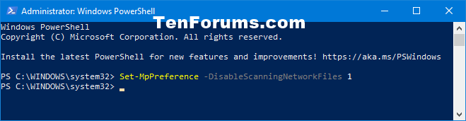 How to Enable Scan Network Files with Windows Defender in Windows 10-windows_defender_scan_network_files_powershell-1.png