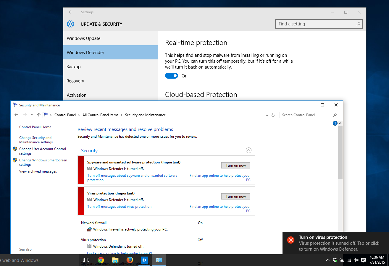 Turn On or Off Windows Defender Antivirus in Windows 10 | Tutorials