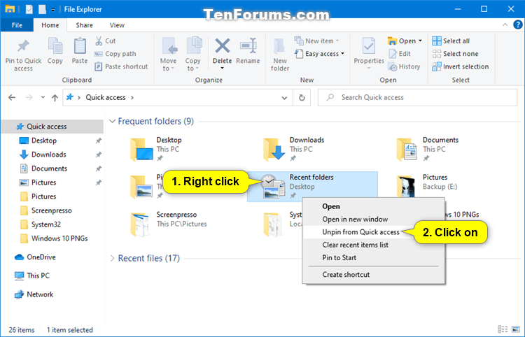 How to Pin Recent Folders to Quick Access in Windows 10-unpin_recent_folders_from_quick_access-1.png