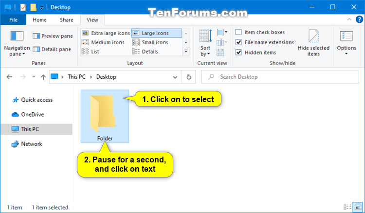Rename Folder in Windows 10-rename_folder_two_single_clicks.png