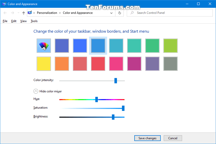 How to Add Color and Appearance to Control Panel in Windows-classic_color_and_appearance_control_panel.png