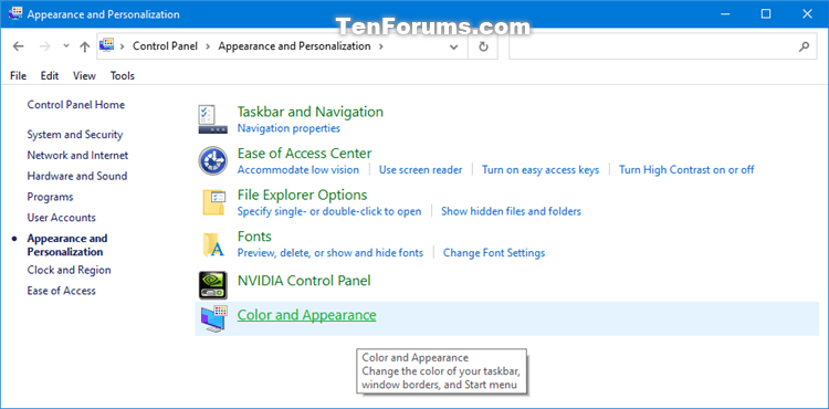 How to Add Color and Appearance to Control Panel in Windows-color_and_appearance_control_panel_category.png