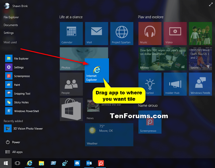 'Pin to Start' and 'Unpin from Start' items in Windows 10-drag_pin_to_start-2.png
