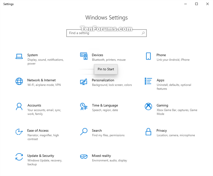 'Pin to Start' and 'Unpin from Start' items in Windows 10-settings_pin_to_start-1.png