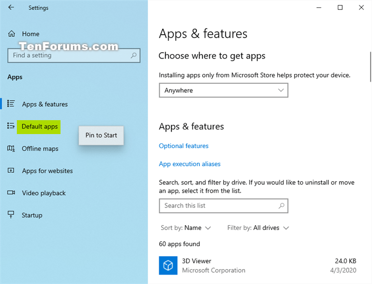 'Pin to Start' and 'Unpin from Start' items in Windows 10-settings_pin_to_start-2.png