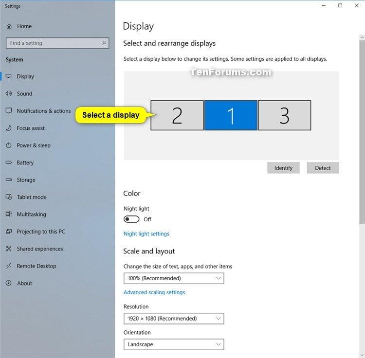 Change Screen Resolution Of Display In Windows 10 Tutorials