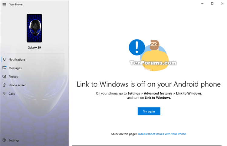 Turn On or Off Link to Windows for Your Phone app on Android Phone-link_to_windows_is_off_on_your_android_phone.png