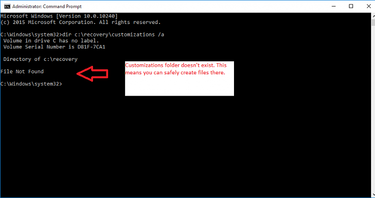 Create Provisioning Package in Windows 10-recoverydoesntexist_good.png