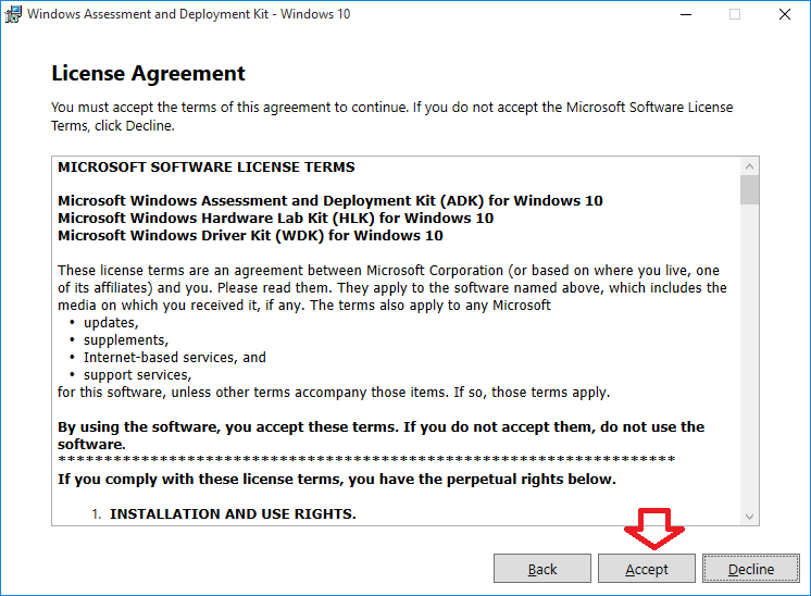 Create Provisioning Package in Windows 10-adk_licenseagreement_a.png