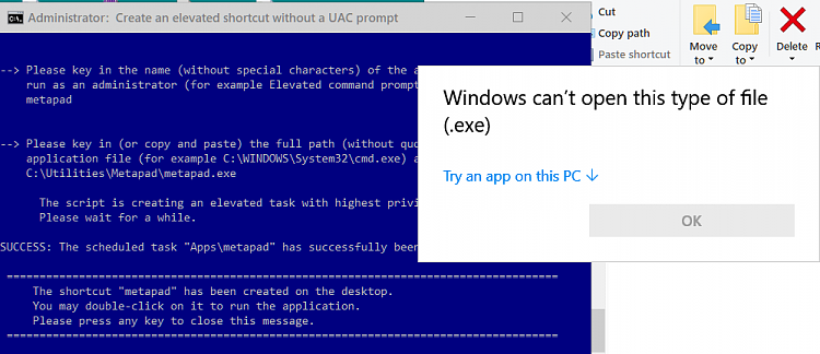 Create Elevated Shortcut without UAC prompt in Windows 10-cant-open.png