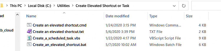 Create Elevated Shortcut without UAC prompt in Windows 10-create-folder.png