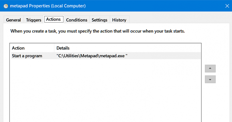Create Elevated Shortcut without UAC prompt in Windows 10-metapad-actions.png