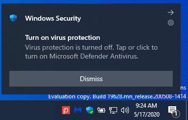How to Turn On or Off Microsoft Defender Antivirus in Windows 10-microsoft_defender_antivirus_disabled_notification.png