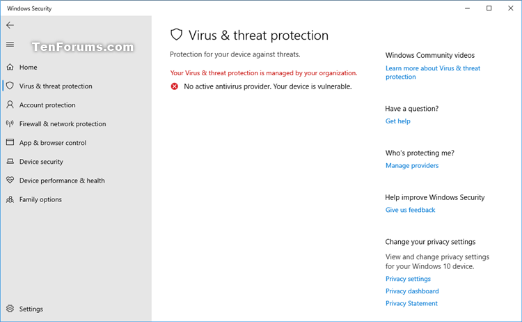 Turn On or Off Windows Defender Antivirus in Windows 10-windows_defender_antivirus_disabled-3.png