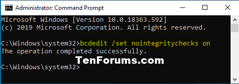 How to Enable or Disable Driver Signature Enforcement in Windows 10-nointegritychecks_on.png