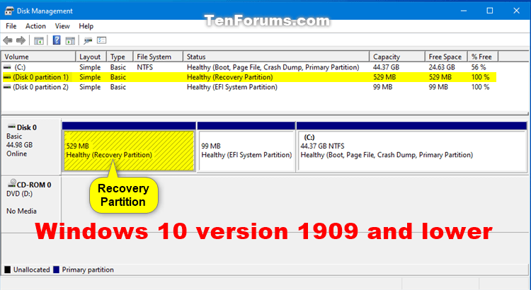 How to Delete Recovery Partition in Windows 10-windows_10_1909_recovery_partition.png