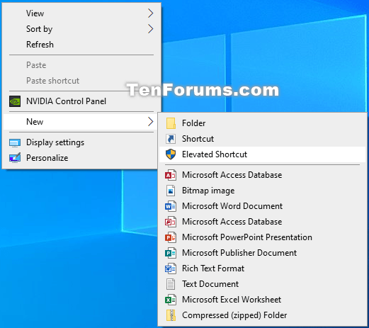 How to Add Create Elevated Shortcut to New Context Menu in Windows 10-new_elevated_shortcut_context_menu.png