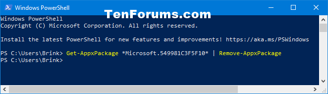 How to Install and Uninstall Cortana in Windows 10-uninstall_cortana_in_powershell_for_current_user.png