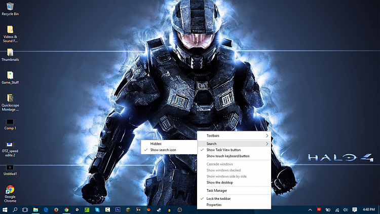 Hide or Show Search Box or Search Icon on Taskbar in Windows 10-snapshot.png