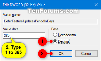 Windows Update - Defer Feature and Quality Updates in Windows 10-defer_feature_updates_regedit-2.png