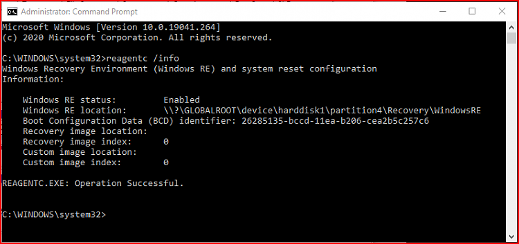 Enable or Disable Windows Recovery Environment in Windows 10-reagentc.png