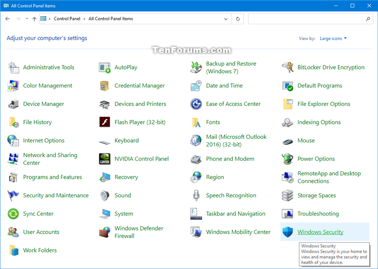 Add Windows Security to Control Panel in Windows 10-windows_security_in_control_panel_icons.png
