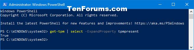 Verify Trusted Platform Module (TPM) Chip on Windows PC-get-tpm_powershell.png