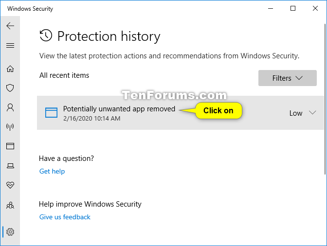 View Protection History of Microsoft Defender Antivirus in Windows 10-windows_security_protection_history-4.png