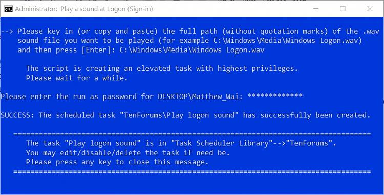How to Play Sound at Logon (Sign-in) in Windows 10-success.jpg