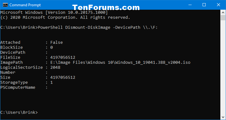 Mount or Unmount ISO and IMG file in Windows 10-unmount_iso_by_drive_letter_command.png