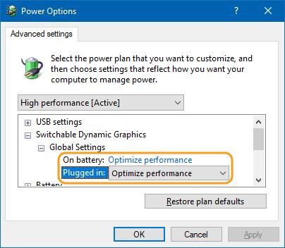 Các Bước Để Sao Lưu thiết đặt GPU Cho Các vận dụng window 10