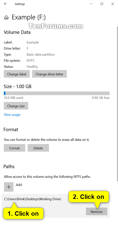 Mount Drive to a Folder in Windows 10-unmount_drive_from_folder_in_settings.png