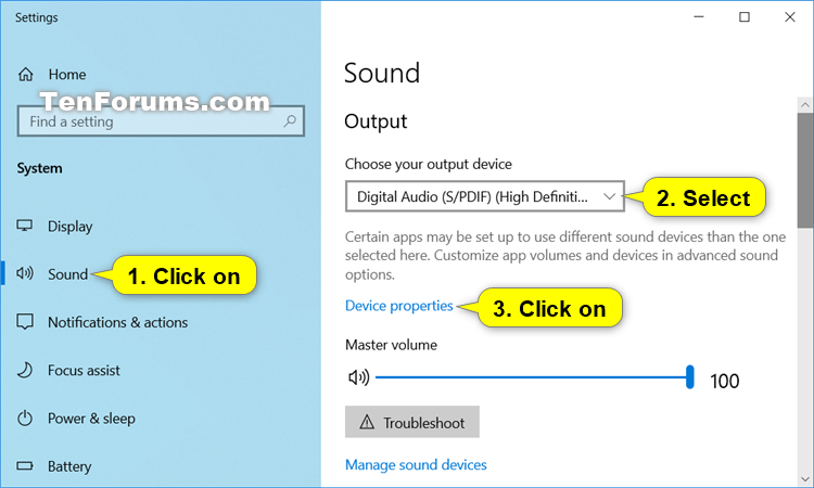 Adjust Left and Right Audio Balance of Sound Devices in Windows 10