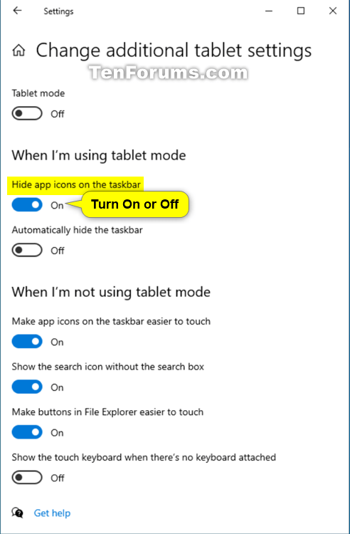 Hide or Show App Icons on Taskbar in Tablet Mode in Windows 10-additional_tablet_settings-2.png