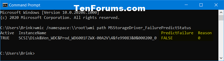 How to Check Drive Health and SMART Status in Windows 10-drive_failurepredictstatus_command.png