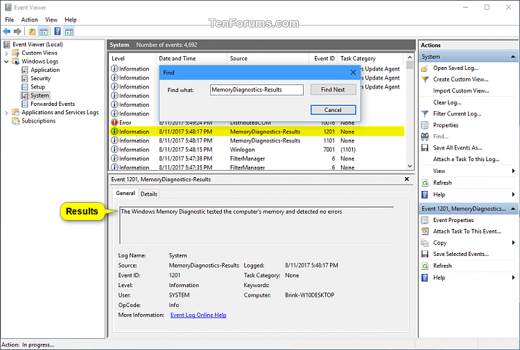 Read Memory Diagnostics Tool Results in Event Viewer in Windows 10-memory_diagnostics_tool_event_log-3.png