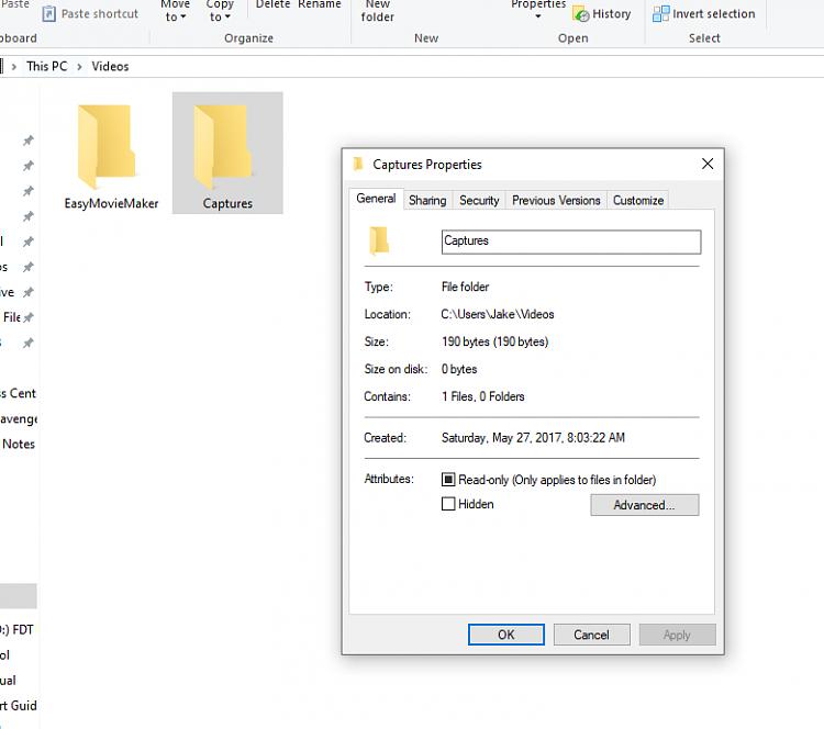 Restore Default Location of Game DVR Captures Folder in Windows 10-cap4.png