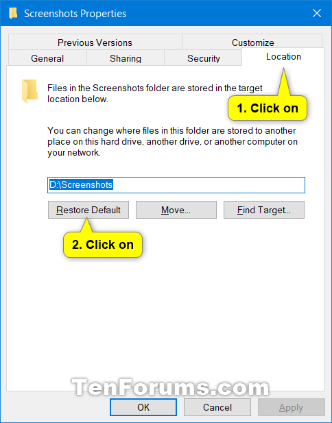 Change or Restore Default Location of Screenshots Folder in Windows 10-restore_screenshots_folder_default_location-2.png