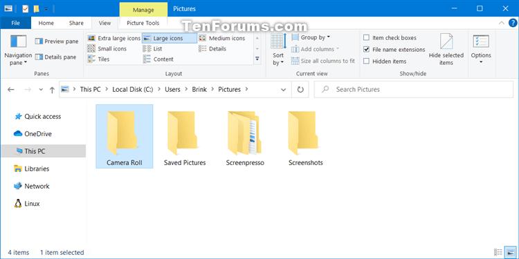 Change or Restore Default Location of Camera Roll Folder in Windows 10-camera_roll_folder.png